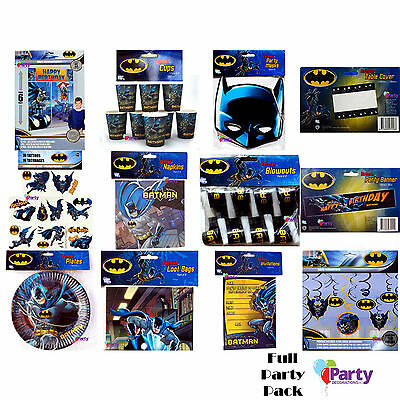 Bulk Birthday Party Pack Batman Decorations Supplies Favours Kit New