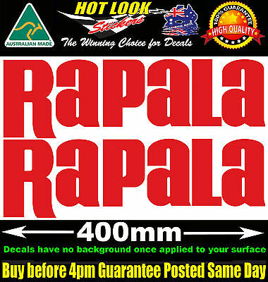 Rapala Decals x2 HUGE 400mm Wide stickers for boat fishing tackle box fridge