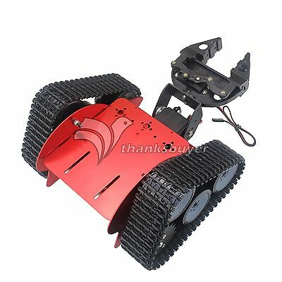 Assembled Tracked Vehicle Tank Chassis Crawler Robot Car + 2DOF Claw for Arduino