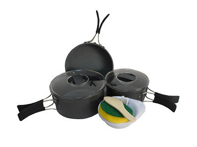 2-3 Person Cooking Pot Camping Cookware Outdoor Pots and Pans Sets BRS-123
