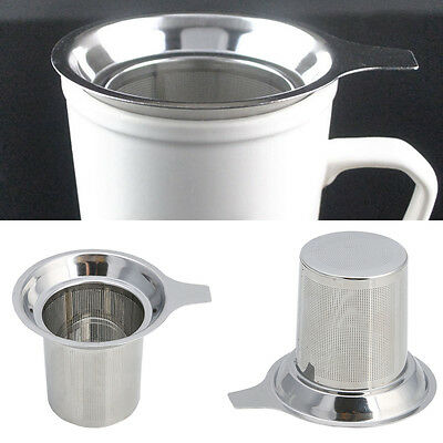 1pc Stainless Steel Round Loose Tea Infuser teapot Filter Strainer Sieve Cup Mug