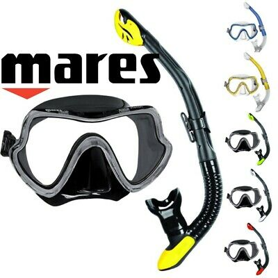 Mares PURE VISION ERGO Professional SNORKELLING / Diving Mask and Snorkel Set,