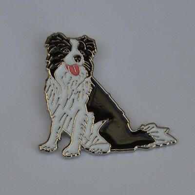 Border Collie Quality Enamel Pin Badge