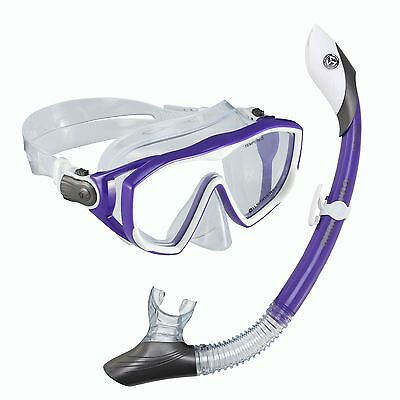 NEW US Divers Ladies Womens SILICONE mask with DRY TOP Snorkel