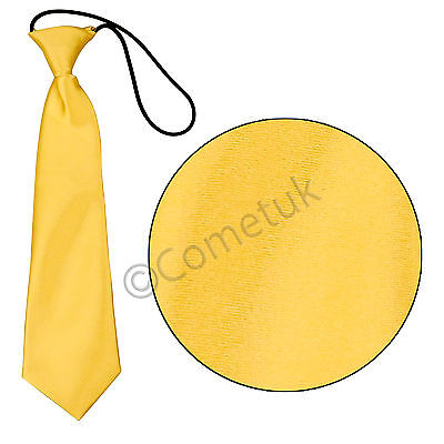 Children Boys Kids Solid Plain Satin Neck Elastic Tie Necktie Wedding Party Men