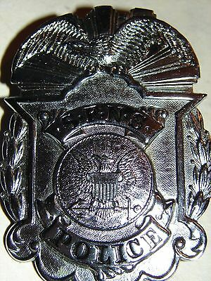 Original WW2-Korean War San Francisco Naval ShipYard Police Hat Badge