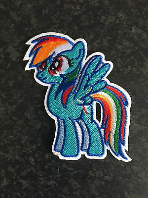 1x Embroidered My Little Pony Rainbow Dash Sew On Iron On Patch