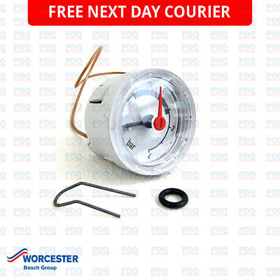 WORCESTER 24Si & 28Si MK 2 PRESSURE GAUGE 87161423980 - NEW *FREE NEXT DAY P&P*