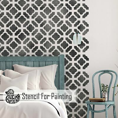 CHINESE GARDEN Oriental - Furniture Wall Floor Stencil for Painting