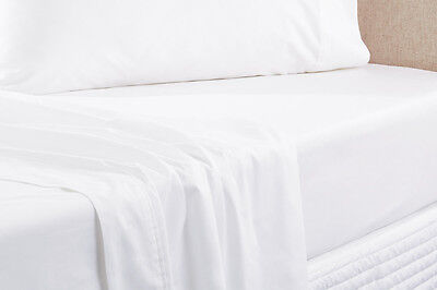 NEW Sheridan Everyday Cotton 250Tc Fitted Sheet - White