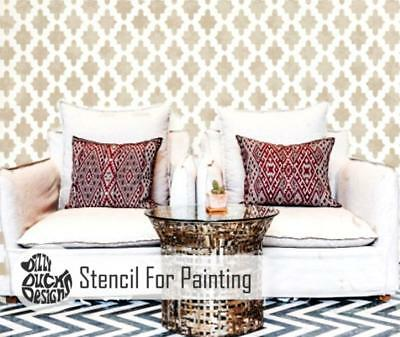 ISTANBUL Moroccan Stencil - Furniture Wall Floor Stencil for Painting