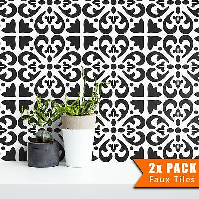 PACK OF TWO Tile Stencils - Dizzy Duck Designs - Tangier - Custom size available