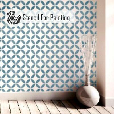 TSUNAGI Japanese Endless Circle Stencil - Furniture Wall Floor Stencil for Paint