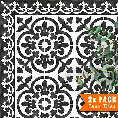 Wall Furniture Floor Craft Stencil - Mediterranean VALENCIA TILE STENCIL