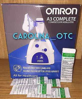 NEW OMRON A3 Complete Nebulizer Asthmanefrin ALTERNATIVE Starter Asthma + 5 Vial