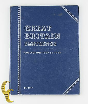 1937-1956 Great Britain Farthing Coin Book of 24 coins George VI, Elizabeth II