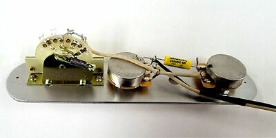 Telecaster 3 Way Wiring Harness CTS Pots, CRL Switch, +Treble Bleed