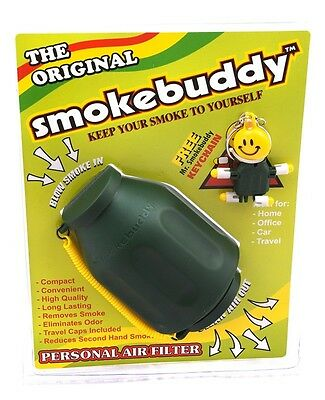 Green Smoke Buddy Original Personal Air Filter Eliminates Smoke Odor