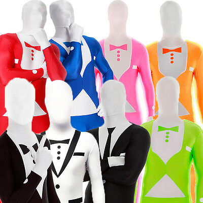Tuxedo & Suit Morphsuit All Colours Sizes For Stag Do Slenderman Fancy Costume