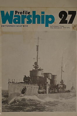 WW1 Imperial German Navy SM Torpedo Boat B110 Warship Profile 27 Reference Book