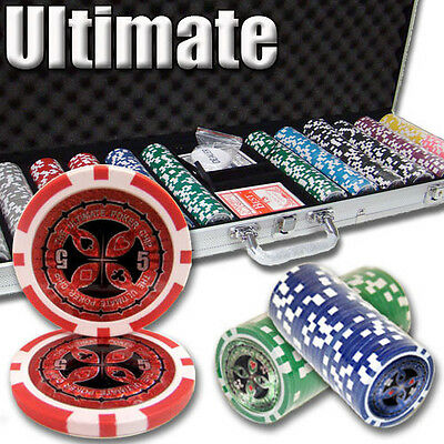 NEW 600 PC Ultimate 14 Gram Clay Poker Chips Set Aluminum Case Select Your Chips