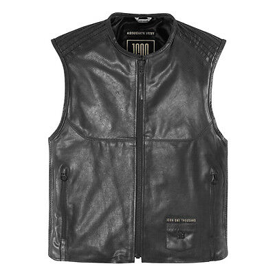 New Icon 1000 Associate Leather Motorcycle Vest