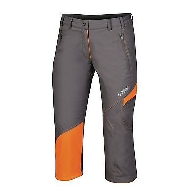 Direct Alpine Cruise 3/4 Lady Pant, Outdoorhose 3/4-Lang für Damen, grau-orange
