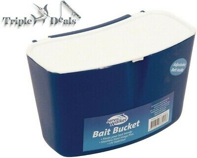 Jarvis Walker Plastic Bait Bucket with Adjustable Belt and Stainless Steel Pins