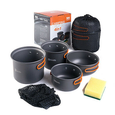 2-3 persons Outdoor Pot Sets Camping Cookware Picnic Pots and Pans NH15T401-G