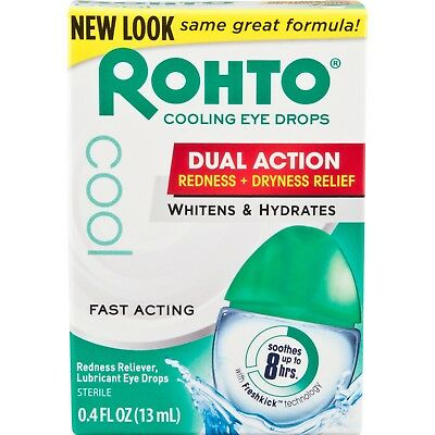 Rohto Redness Relief Cooling Eye Drops, 0.4 fl oz