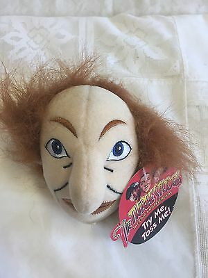 Rare 1997 The three stooges Knuckleheads talking soft plush wise guy heads NWT