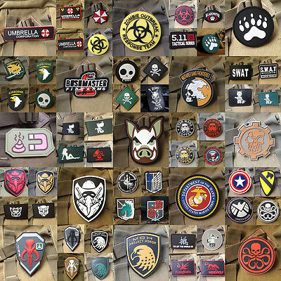 Many Style PUNISHER USA ARMY Tactical 3D PVC hook loop Patch Morale Badge
