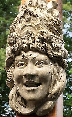 Lot Of 3: Garden Goddess Of Happiness & Light, In / Outdoor Cast Stone Sculpture