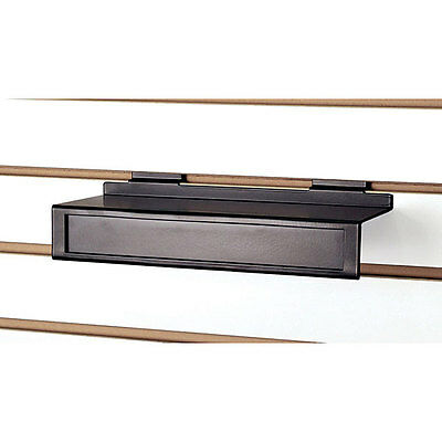 "Pack of 2 New Black Metal Slatwall shoe shelf 11""w x 4""d x 2""h"