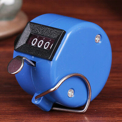 4 Digital Number Mini Handy Tally Click Counter Display Counter Blue 1PC>