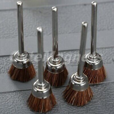 5Pcs 15mm Nylon Wire Polishing Cup Wheel Brushes Rust Remover for Rotary Tool