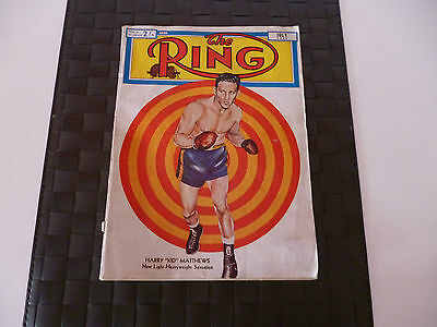The Ring Boxing Magazine July 1951 Cover - Harry Kid Matthews