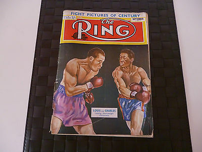 The Ring Boxing Magazine September 1951 Cover - Louis And Charles