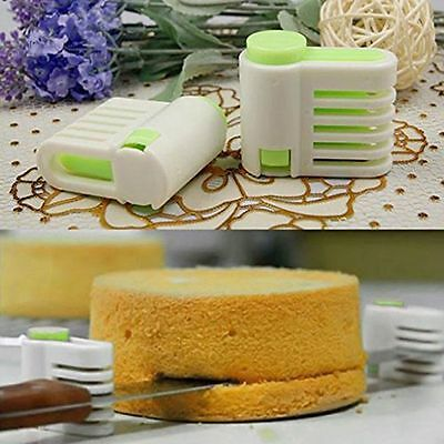 Cake Bread Cutter New Adjustable Kitchen Accessories Cutting Fixator Tools 1Pair