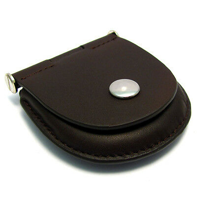 Pocket Watch Pouch Heavy Stitched Leather with Belt Loop  Choose Brown or Black