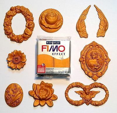Gold Polymer Clay Fimo Effect Sculpey Golden Modeling Clay Staedtler