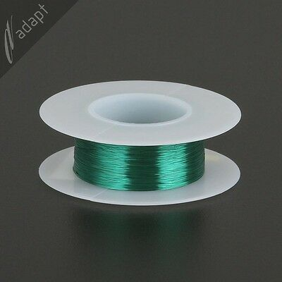 34 AWG Gauge Magnet Wire Green 494' 155C Solderable Enameled Copper Coil Winding