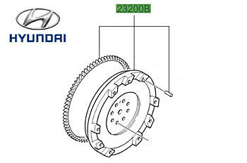 Genuine Hyundai Santa Fe Dual Mass Flywheel - 2320027001
