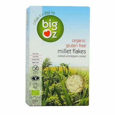 Big Oz Organic Gluten Free Millet Flakes 500g (Pack of 3)
