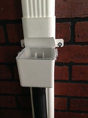 """Downspout Rain Diverter with Hose Adapter   2"""" x 3"""""""