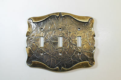 Vintage -Amerock- Carriage House Triple Switch Cover (6VNI5P)