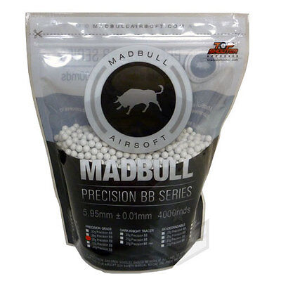 AIRSOFT MADBULL BB BBS .25g .25 PRECISION 4000 WHITE 5.95mm