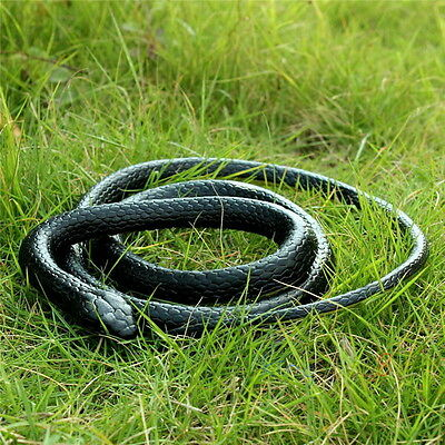 130cm Realistic Rubber Snake Toy Garden Props Joke Prank Gift Wild Reptile NEW