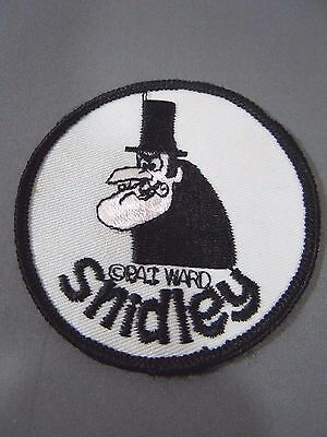 "SNIDLEY WHIPLASH Embroidered Iron-On Patch - 3"" - Rocky & Bullwinkle- Pat Ward"