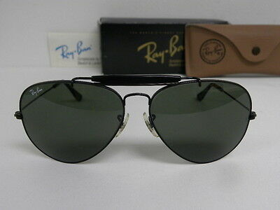 ray ban outdoorsman 7rhj  New Vintage B&L Ray Ban Outdoorsman II 62mm Black Chrome G-15 L2114 Aviator  USA